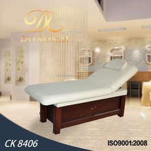 CK 8406 beauty bed & Full body beauty salon furniture wooden massage table & wooden facial bed