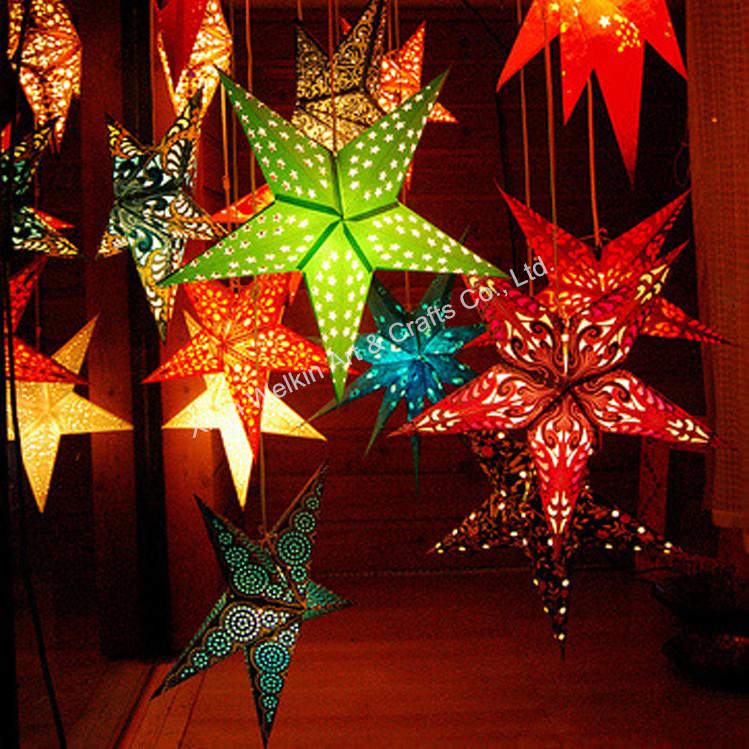 christmas favor paper star decorations hanging india paper star lamp wholesale paper lampjpg