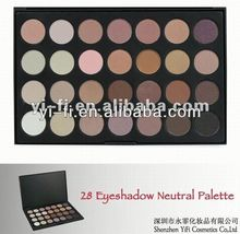 28 color matte mineral eye shadow eye liner