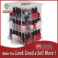 Rotary Clear Acrylic nail polish shelf ,cosmetic product shelf