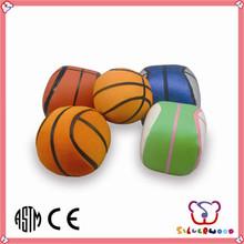 ICTI Factory promotional custom logo printed colorful mini rubber basketball