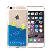 Duck swimming in Blue Ocean TPU cell phone back cover for iphone 6