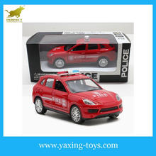 1:32 Die-cast Door Open Pull Back Police Car With Lights And Music, Metal toy car YX001195