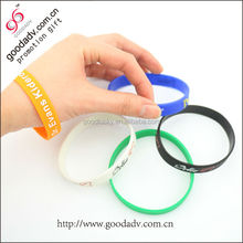 Cheaper patterned and filled color eco-friendly persona silicone bracelet for promotion