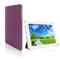 In Stock! Elegant Purple Leather Case For iPad 3 Sleep Function For iPad 3 Case Smart Cover For iPad 4