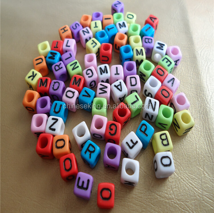 alphabet initial letter beads hand woven bracelet DIY letter beads woven bracelet custom letter bead braided bracelet handmade friendship bracelet from Miss Luv
