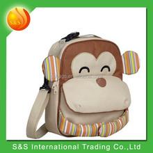 Beige monkey littel kids insulated backapck lunch bag