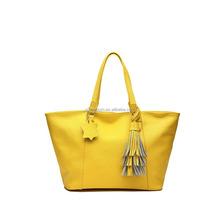Guangzhou Golden Supplier fashion handbag customized,Tassel Designer 100% Genuine Leather Bag