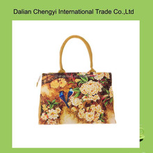 Fashion Chinese style ladies canvas tote bag