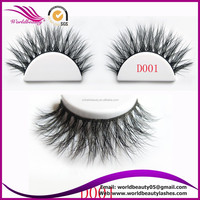 3D volume style siberian mink fur strip eyelash, thin and soft band ! customized logo package