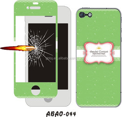 Colorful smart phone accessories tempered glass screen protector film clear screen protector mobile phone for iPhone5s
