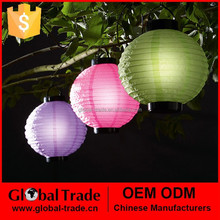 Solar Powered Chinese Lantern Colorful and Foldable Light G0044
