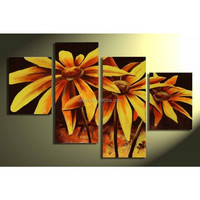 Handpainted decor painting For Livingroom oil painting pictures of flowers With Frames Stretched Home Decoration