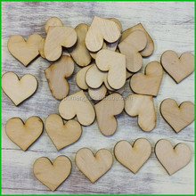 Customized Laser Cut Wooden Heart Shape Decoration