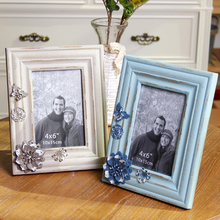 Zakka American European country home decoration solid wood photo frame gift