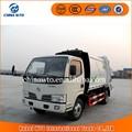 Camión de la basura 4*2 4-6cbm dongfeng camión compactador de basura precio, camión de la basura dimensiones