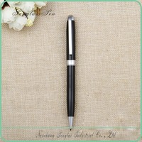 silvery and black metal pen metal model twist pen black ink