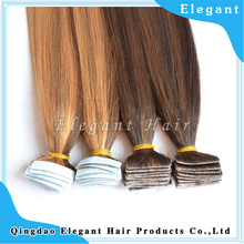 Wholesale 100% Russian virgin remy hair tape in human hair tape weft