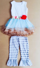 white bulk sleeveless summer baby girl outfits own factory make boutique clothing sets for child and kids toddlers outfits