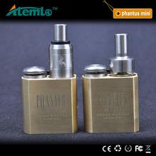 2015 mini e cig mod Phantus Mini Mechanical Mod Gold Phantus Mod 23mm tank fit with 18350 battery for 510 thread RDA