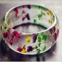 Best Selling Lady Bracelets Fashion Resin Flower Bangles Jewelry