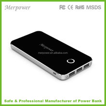 fast charge super slim power bank with 3 outputs high capacity universal battery packs with 3 USB output