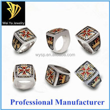 Factory Hot sale high quality fashion design cheap stainless steel jewelry masonic rings