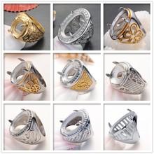 Best Price Multi Colorful Titanium Silver 316L Stainless Steel Indonesia Men Titanium Rings For Gemstone