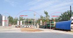 Ship oil/truck oil Purification distillation plant with CE/ISO