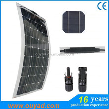 Hot sell new designed high efficiency flexible solar panel 100w for RV / boats/ marine from China factory directly