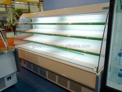 Selling 2 to 10 degree Fruit display refrigerator/fruit and vegetable display rack freezer