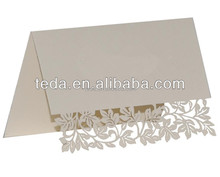 """wholesale wedding supplies festival supplies best price new design """" leaves & branches """" laser cut place card table card"""