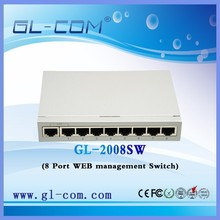 OEM good price 8 port 100M WEB managed switch, websmart switch