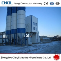 HZS60 Precast Ready Mix Small winter cover Concrete Batching Plant for Sale