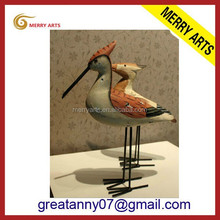 Jinhua new products on china market custom made hand carved wood animals statues with logo