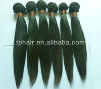 Wholesale cheap 100% natural virgin remy human hair extension 26 inch straight