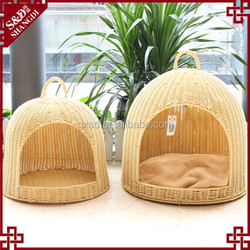 S&D wholesale ger shaped fashion dog cat rattan pet bed made in p.r.c