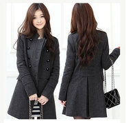 Korean Fashion Jackets Womens Slim Double-Breasted Winter Windproof Jacket