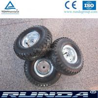 galvanized metal rim small rubber wheel