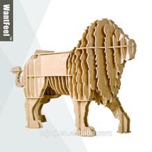 Tallado chino antigüedades arte de madera león artículos