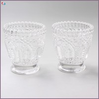 Cheap Pineapple Glass Candle Holder Cup, Glass Goblet Candle Holder For Christmas Eve