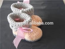 venta al por mayor fabricantes de ganchillo de la mano del bebé calcetín bebé ganchillo zapatos calcetines