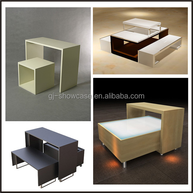 Customized Modern High End Clothing Store Name Display Showcase Furniture View Clothing Store