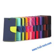 Mercury Card Slots Flip Leather Case for Samsung Z1 Z130H SM-Z130H