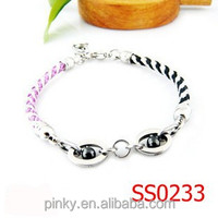 Cheap custom fashion cotton cordon woven adjustable bracelets with alloy clasp for boy and girl