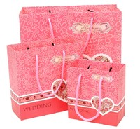 high quality customized paper gift bags with ribbon handles