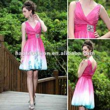 por menor de envío de la gota de color púrpura de un hombro más patrones de vestidos para niñas