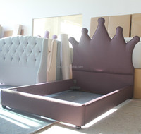 Crown fabric bed of European loyal style for kids and double home furniture
