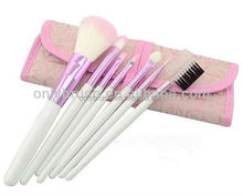 7pcs Makeup Brushes Set Powder Foundation Eyeshadow Eyeliner Lip Cosmetic Pink