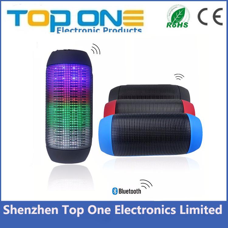 Nueva caliente portátil pulso del altavoz inalámbrico Bluetooth soporte NFC de colores 360 luces
